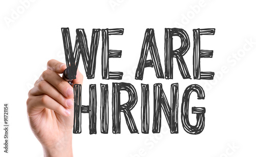 Fotografía  Hand with marker writing: We Are Hiring