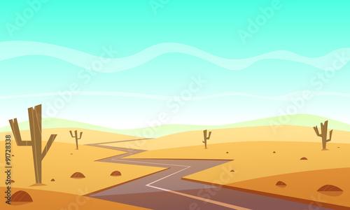 Keuken foto achterwand Lichtblauw Desert Road