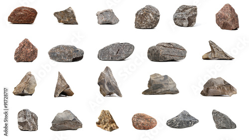 Photo Big Collection stones  isolated