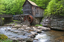 Glade Creek Grist Mill In Babcock State Park West Virginia USA Was A Flour Mill