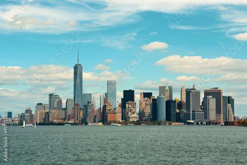 Foto op Aluminium New York Manhattan downtown skyline