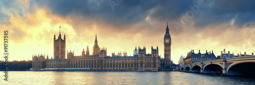 Tuinposter Londen House of Parliament