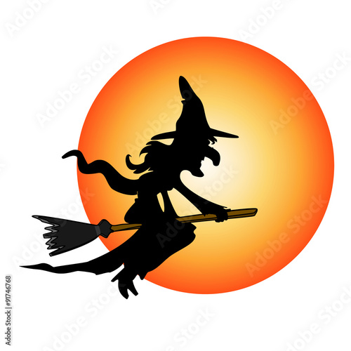 Fotografie, Obraz  halloween costume witch