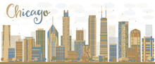 Abstract Chicago Skyline With ...