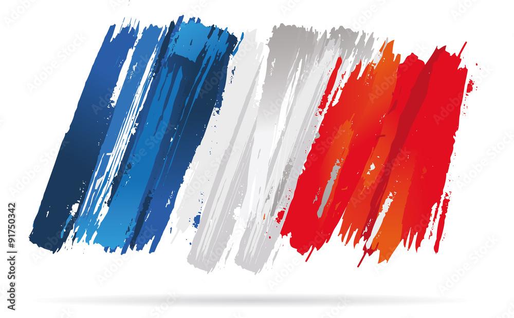 Fototapeta drapeau français, de la france