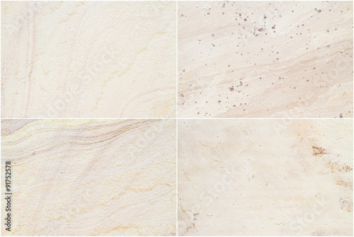 Photo  Set of four shots sandstone textures (high resolution) and colors for background and design