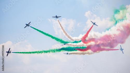 Photo  Aerobatic group Frecce Tricolori
