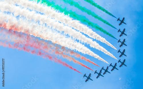 Aerobatic group Frecce Tricolori Canvas Print