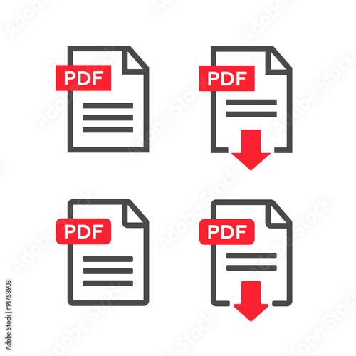 Fotografía  PDF file download icon