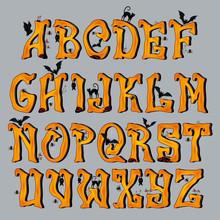 Spooky Halloween Font Capital ...