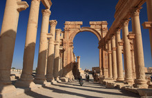 The Colonnade In Palmyra, Syria