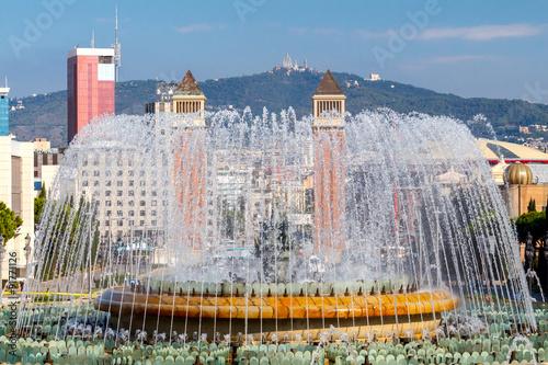 Magic Fountain in Barcelona. - 91771126