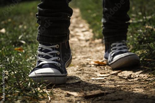 Walking on a path