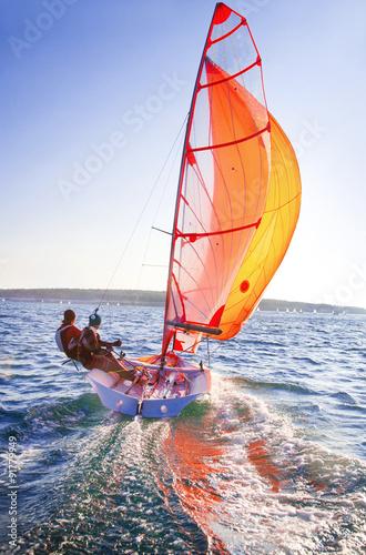 Tuinposter Zeilen sailing regatta