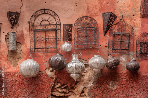 Poster Maroc Metalwork for sale in souk.