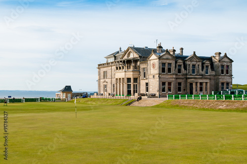 St Andrews Old Couse Clubhouse Fototapet