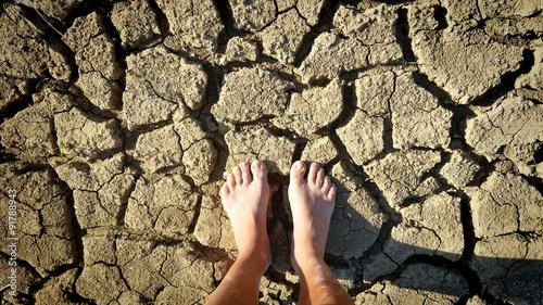 Feet on arid land Canvas-taulu