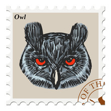 Stamp With Owl