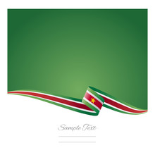 Abstract Color Background Suriname Flag Vector