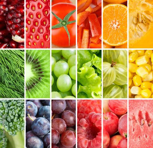 Healthy fresh food background © seralex