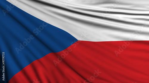 Cuadros en Lienzo Czech republic Flag, Czechian Background