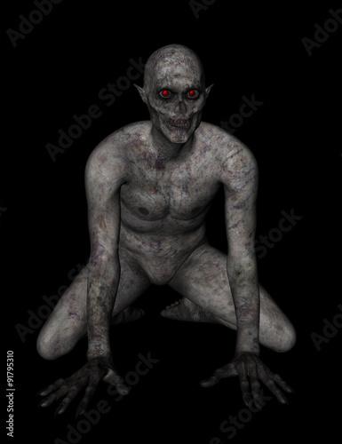 Foto  3D demonic figure