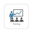 Leinwandbild Motiv Training Icon. Business Concept. Flat Design.