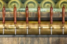 Beer Taps Inside A Pub
