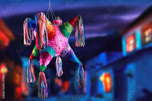 Fotomural  mexican pinata used in posadas and birthdays