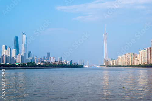Foto op Canvas Dubai skyline of Guangzhou, around the central axis