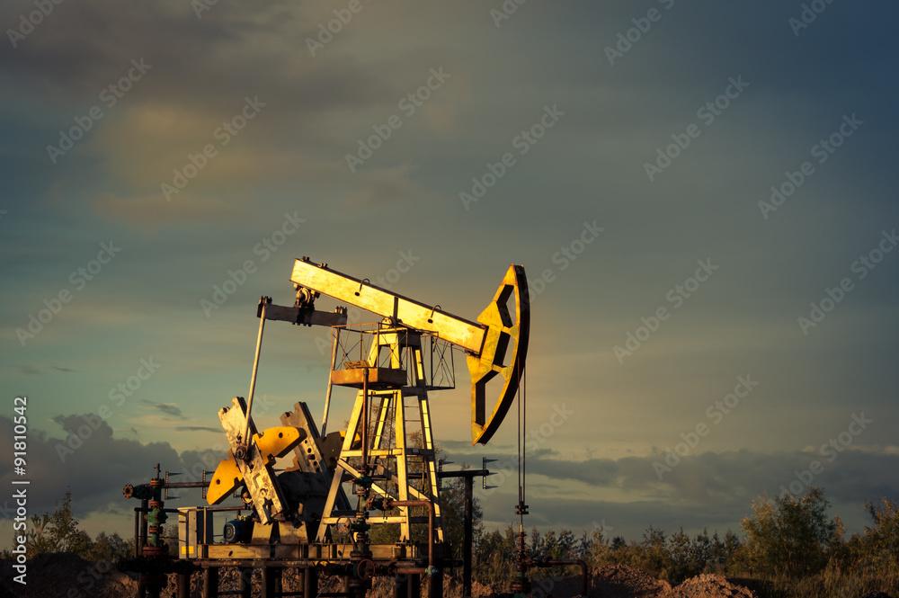 Fototapety, obrazy: Oil pumps.