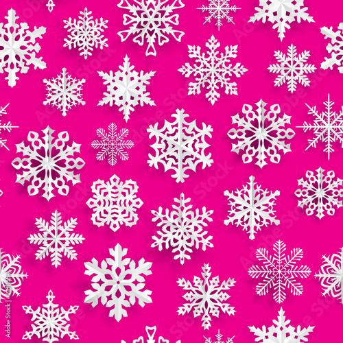 zimowe-sniezynki-na-rozowym-tle