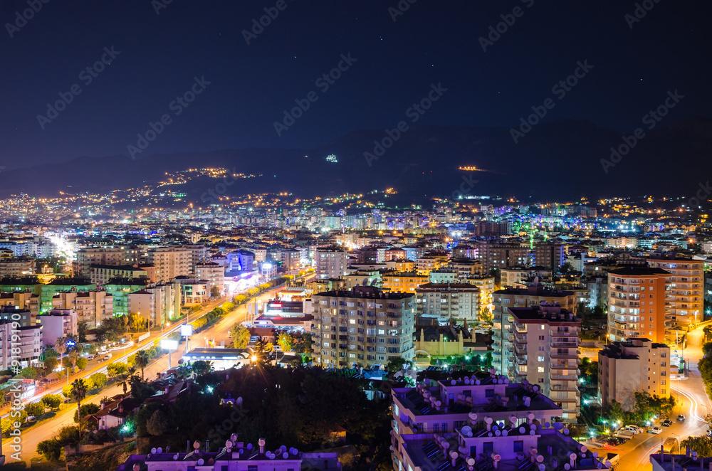 Fototapety, obrazy: city lights panorama