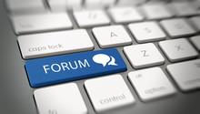 Online Or Internet Forum Concept