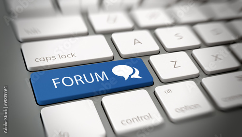Online or internet Forum concept Wallpaper Mural