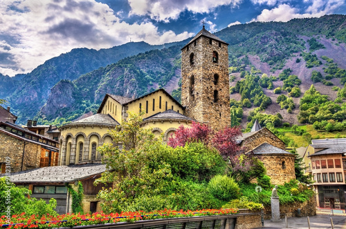 Sant Esteve church in Andorra la Vella, Andorra Canvas Print