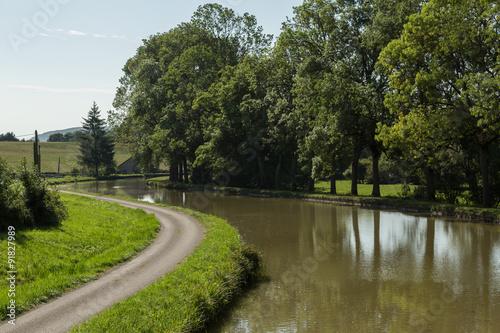 Fotografie, Obraz  Canal de Bourgogne, Burgundy, France