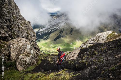 Spoed Fotobehang Alpinisme En montagne