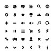 Black minimalism style pictograms set. Modern vector icons set for web and mobile. Isolated on white background
