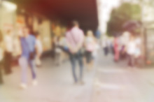 High Blurred Image Of Workers ...