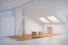 Ausbau Vom Dachboden Mit Parkett