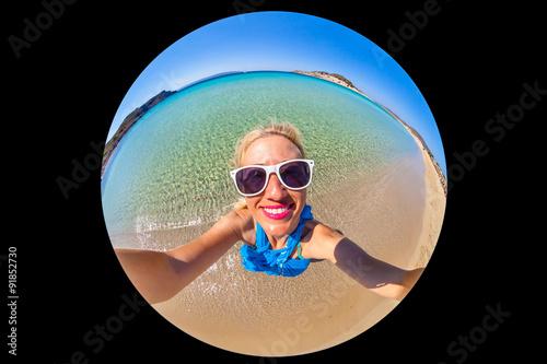 Fotografie, Obraz  Paradise beach selfie