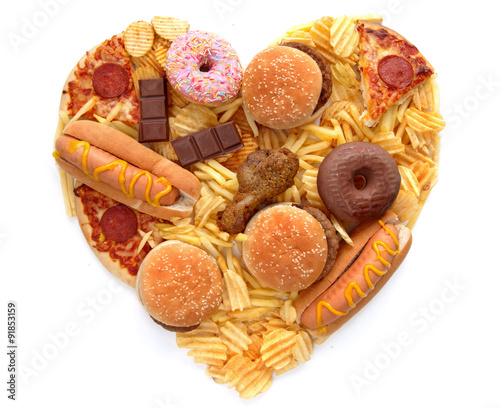 Heart shape junk food © Pixelbliss