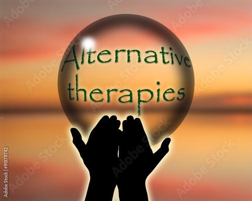 Alternative therapies crystal ball Wallpaper Mural
