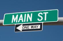 Main Street Sign In Rapid City South Dakota