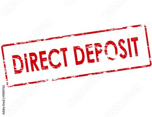 Direct deposit Poster