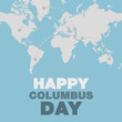 Christopher Columbus day poster map and ocean theme flat design