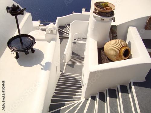 Fototapety, obrazy: Schody Santorini