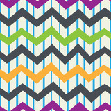 Retro seamless pattern of vertical bands and horizontal zigzags. Vintage background. Vector.