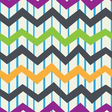 Retro Seamless Pattern Of Vert...